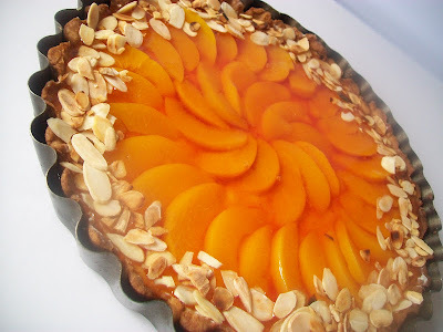Marcipanovo- broskynovy tart