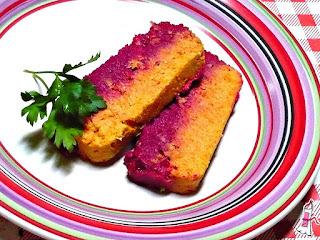Receta colorida: Terrina de pescado con zanahoria y remolacha