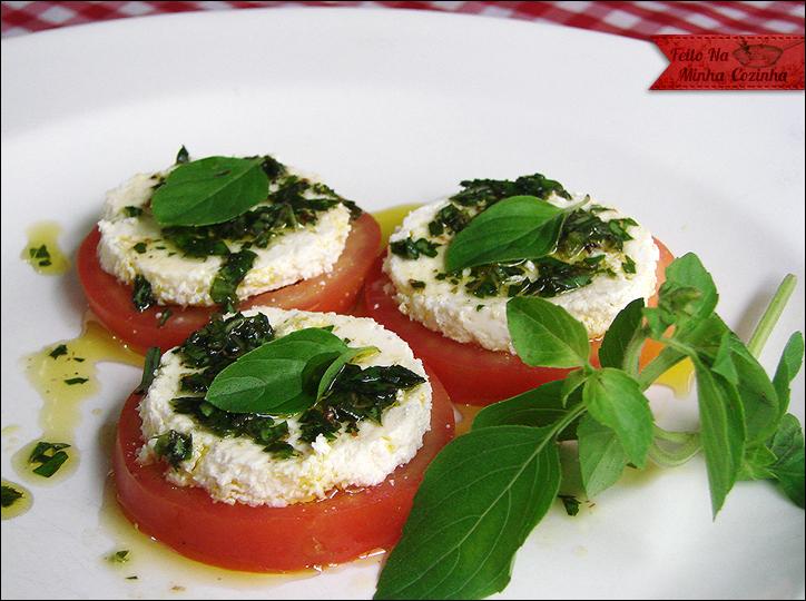 Salada Caprese com Ricota