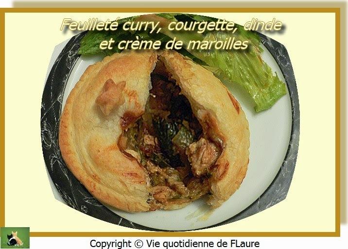 Feuilleté curry, courgette, dinde et crème de maroilles