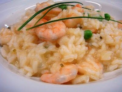 de arroz de forno com camarão seco