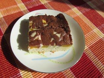 Liaty koláč s tvarohom a ovocím