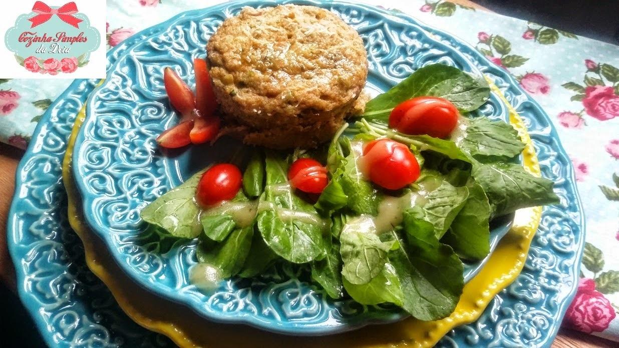 Torta Salgada integral de batata doce com legumes e queijo