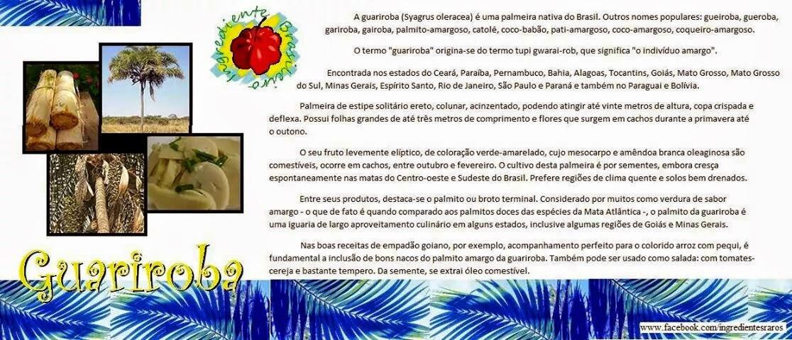 Você conhece a Guariroba?