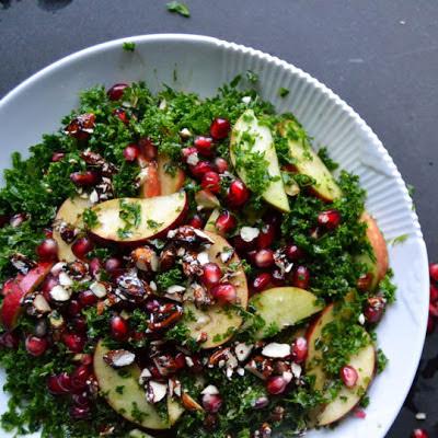 grønn salat til skalldyr