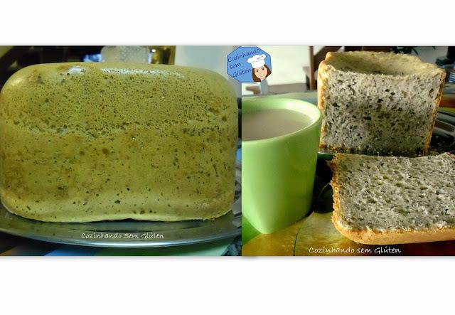 pao farinha de milho na maquina de pão