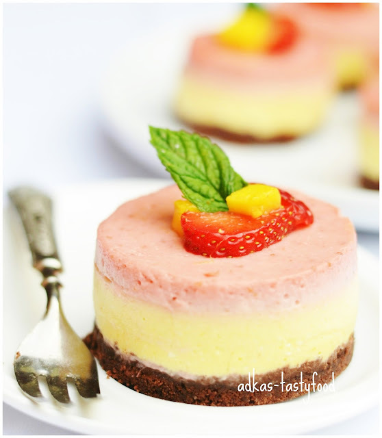 Jahodovo-mangový dezert