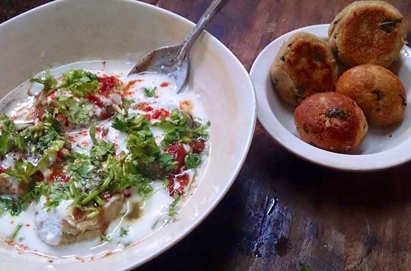 Millet flour Dahi vadas  ( Faraali recipe )