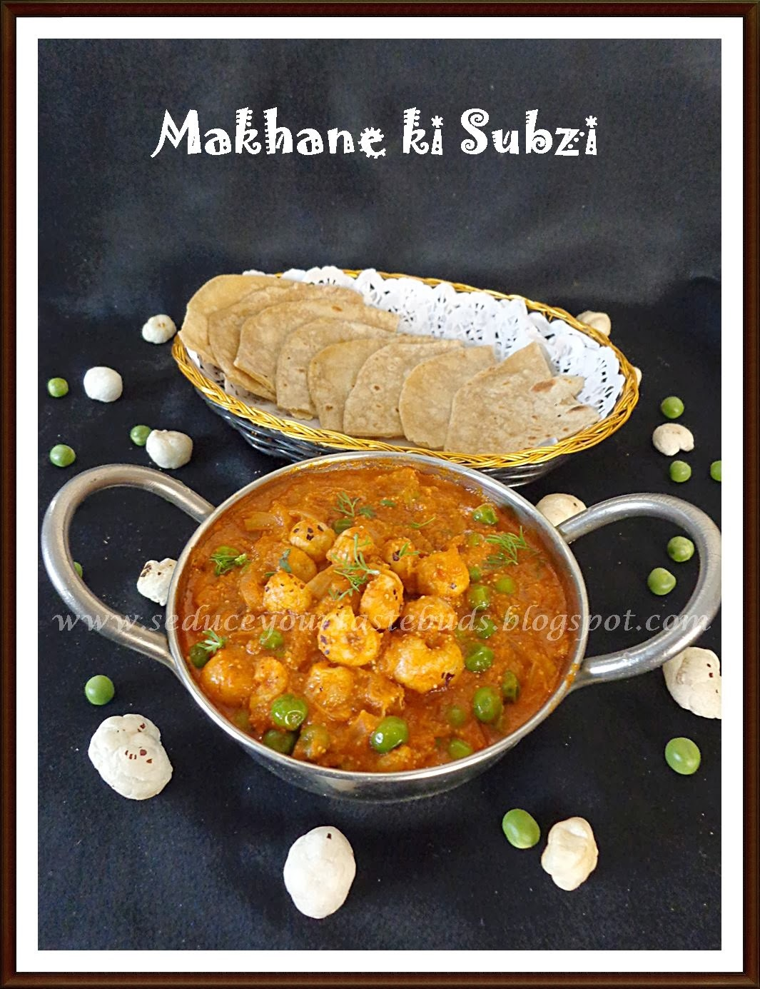 Makhane ki Sabji - Puffed Lotus Seeds Curry- Bihar