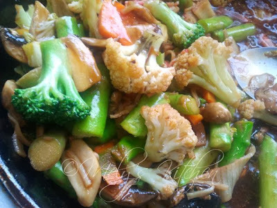 Stir Fried Vegetables with Crab sticks