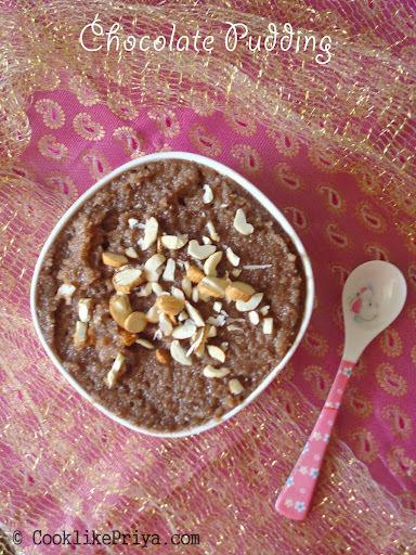 Chocolate Semolina Pudding | Chocolate Kesari | Kids Chocolate Dessert
