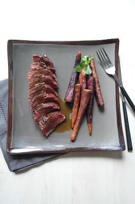 [Recette] Magret de canard à la sauce à l'orange, carottes violettes