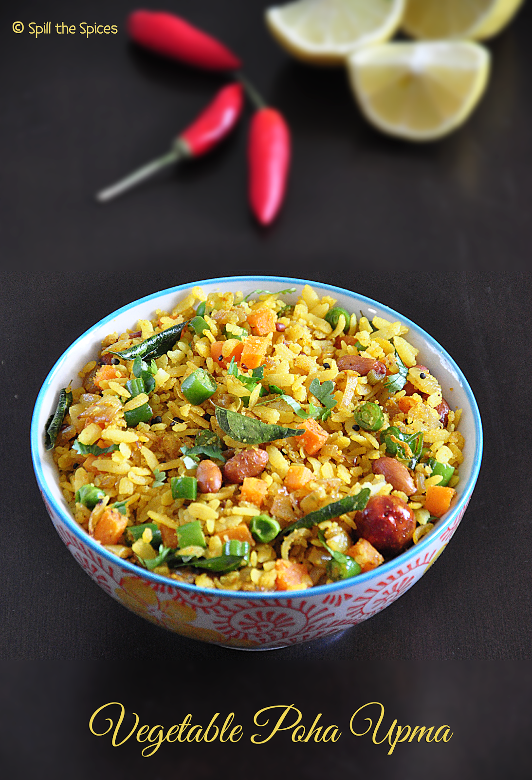 Vegetable Poha Upma | Masala Aval Upma