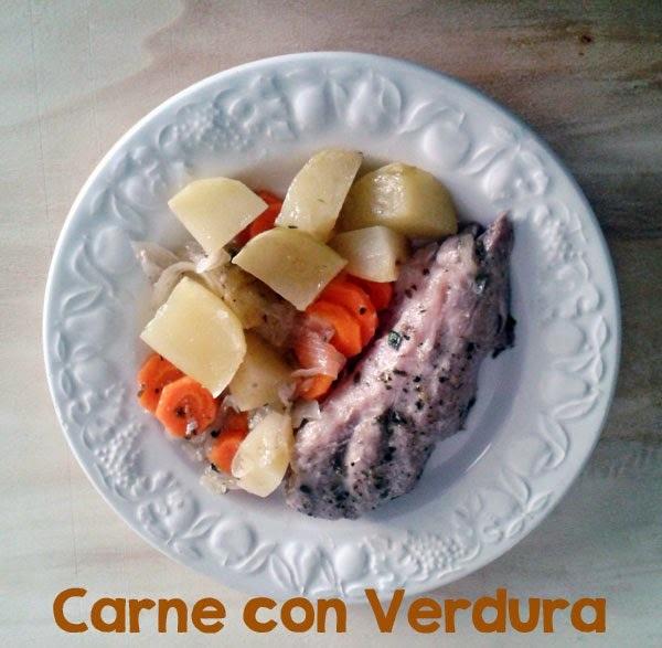 Receta de Carne con Verduras en Olla Exprés o al Horno