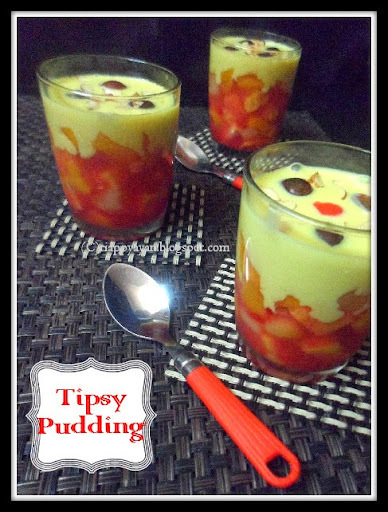 Tipsy Pudding or The famous English Trifle ~ A British Festive Dish