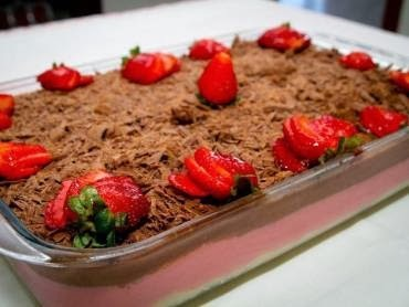 Mousse de Morango e Chocolate