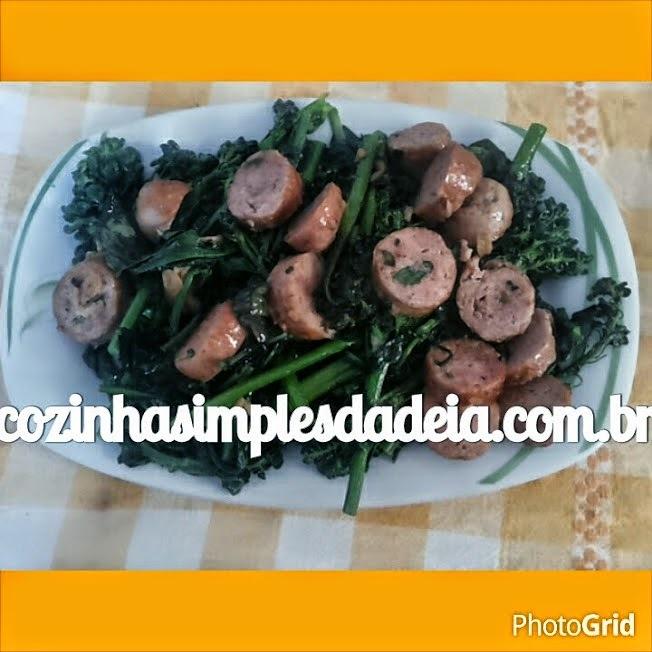 Brócolis com linguiça - Receita do Buddy Valastro - Cake Boss