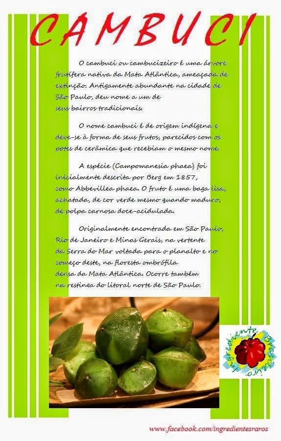 DICA FUNCINAL:Cambuci, Carambola, Cereja ao Marrasquino e Coco