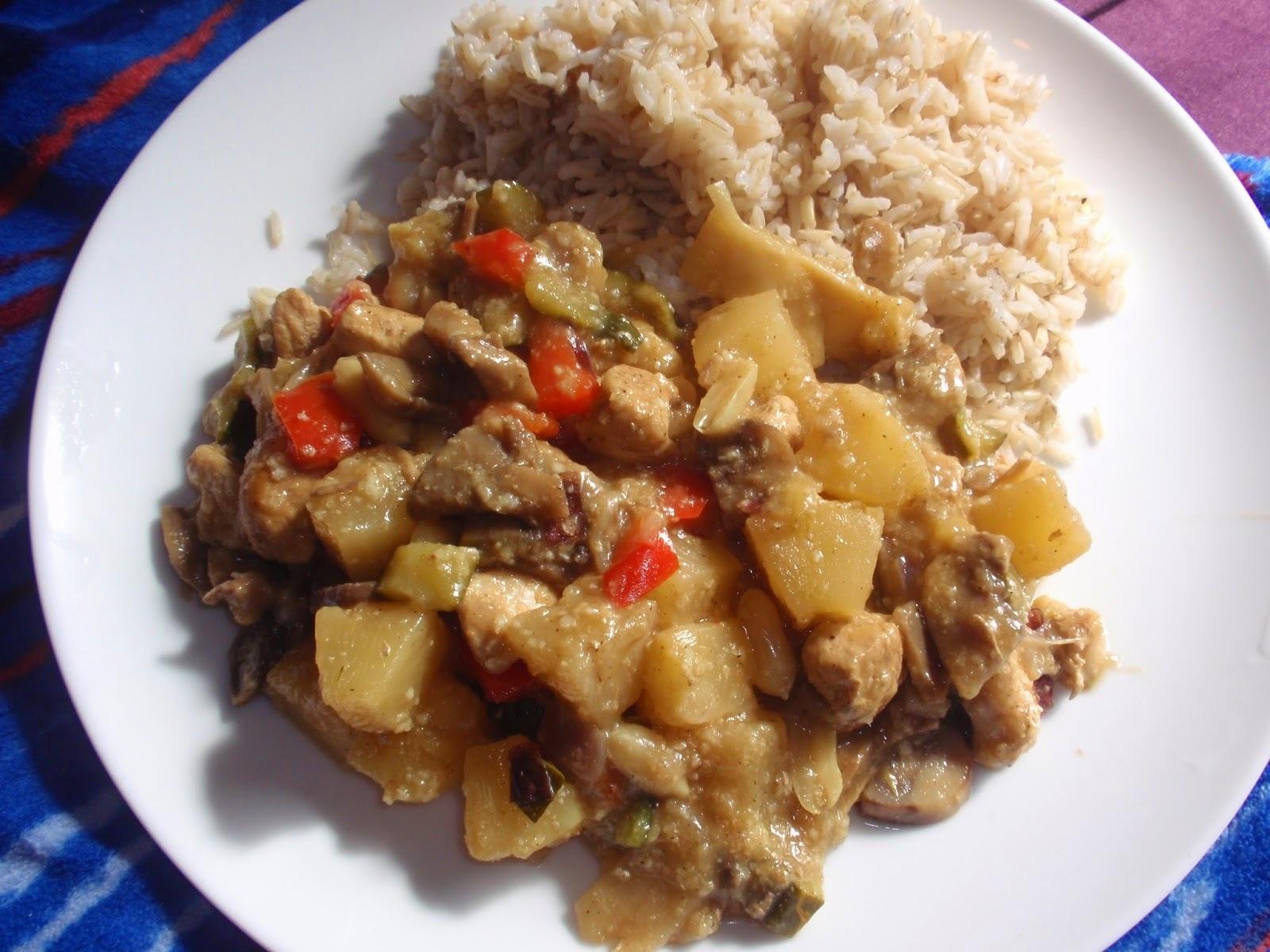 Zeleninová čína s kuřecím masem