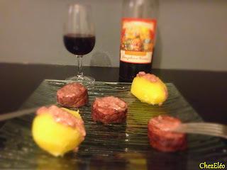 Saucisson sauce Beaujolaise