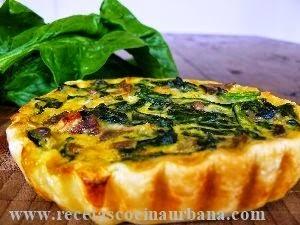 Tartas individuales de verdura, receta fácil