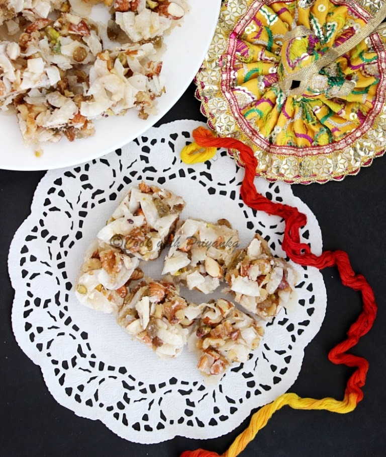 Panchmewa Pag (Dry fruits fudge) : Krishna Janmastami Special