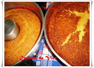 bolo de duas cores de liquidificador