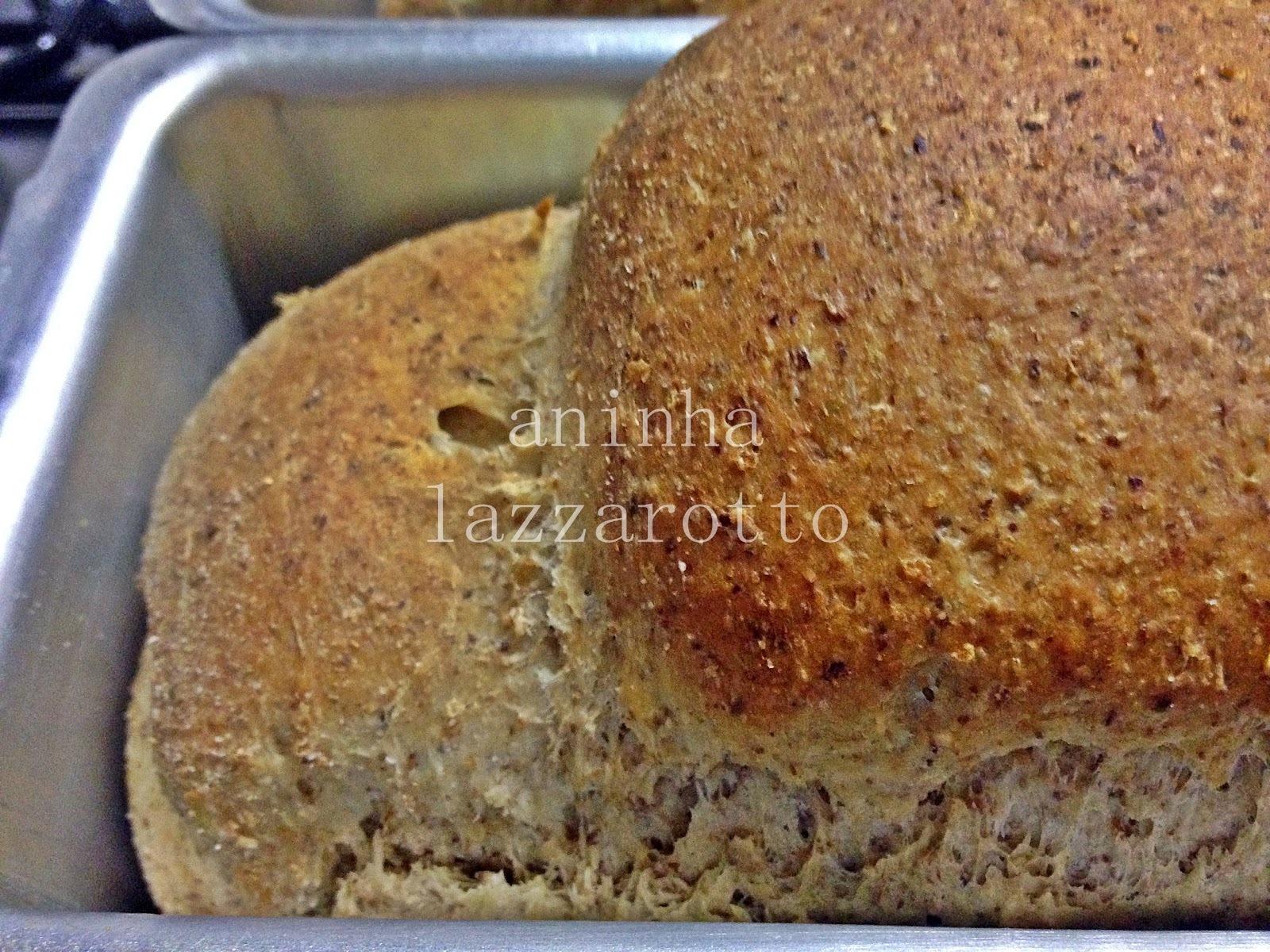 Pão Integral de Linhaça e Amaranto