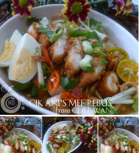 Mee Rebus Cik Ani / Noodles in Gravy