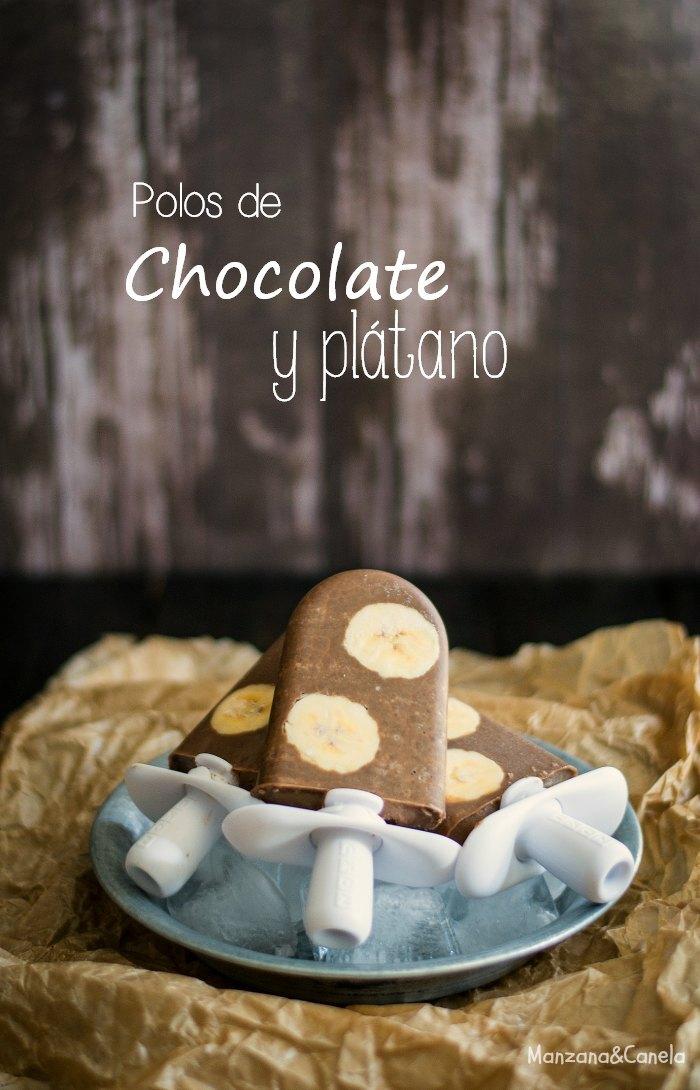 Polos de chocolate y plátano