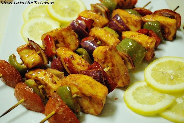 Tandoori Paneer Tikka - Barbecue Cottage cheese