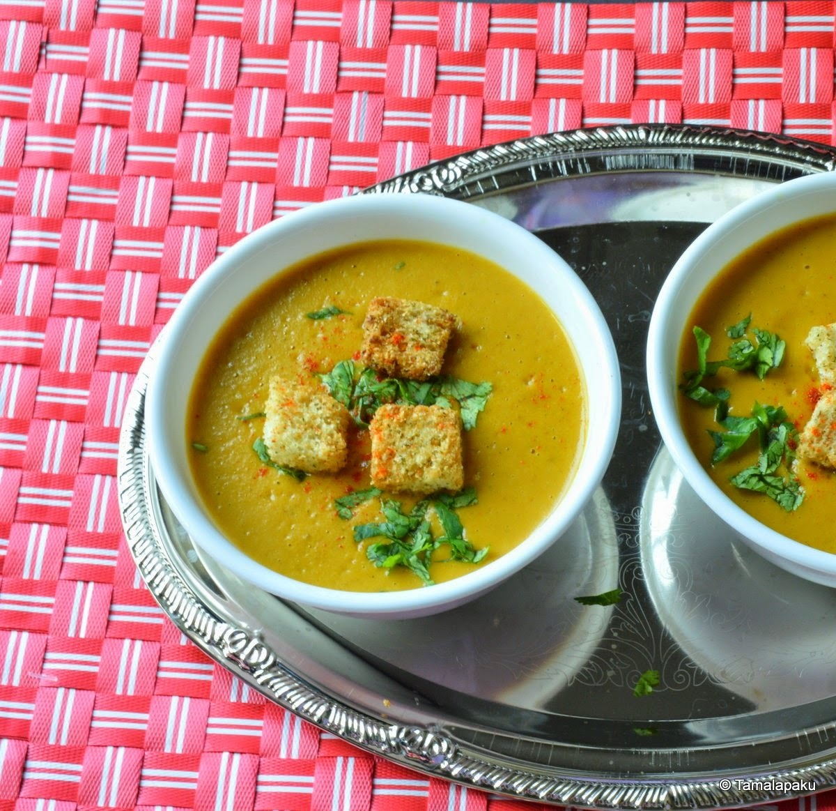Indo-French Butternut Squash And Potato Bisque - Pondicherry