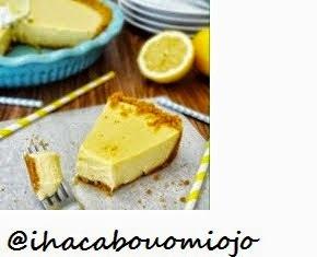 Torta de limão com ganache de chocolate branco.