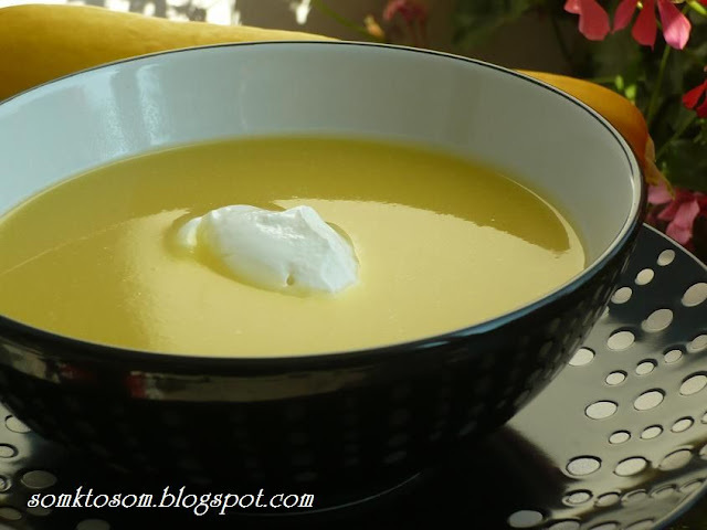 Polievka zo žltej cukety