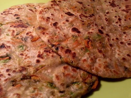 Vegetable Paratha North Indian Special Recipe - Mixed Vegetable Stuffed Paratha - Breakfast Recipes