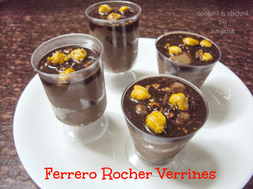 Ferrero Rocher Tarts ( For Baking Eggless)