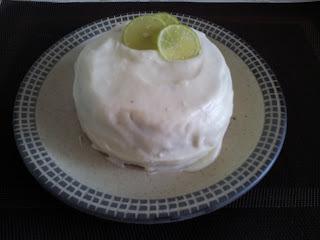 Pastel de limón con jengibre