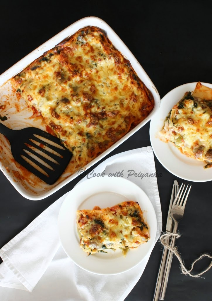 Vegetable Lasagna from scratch