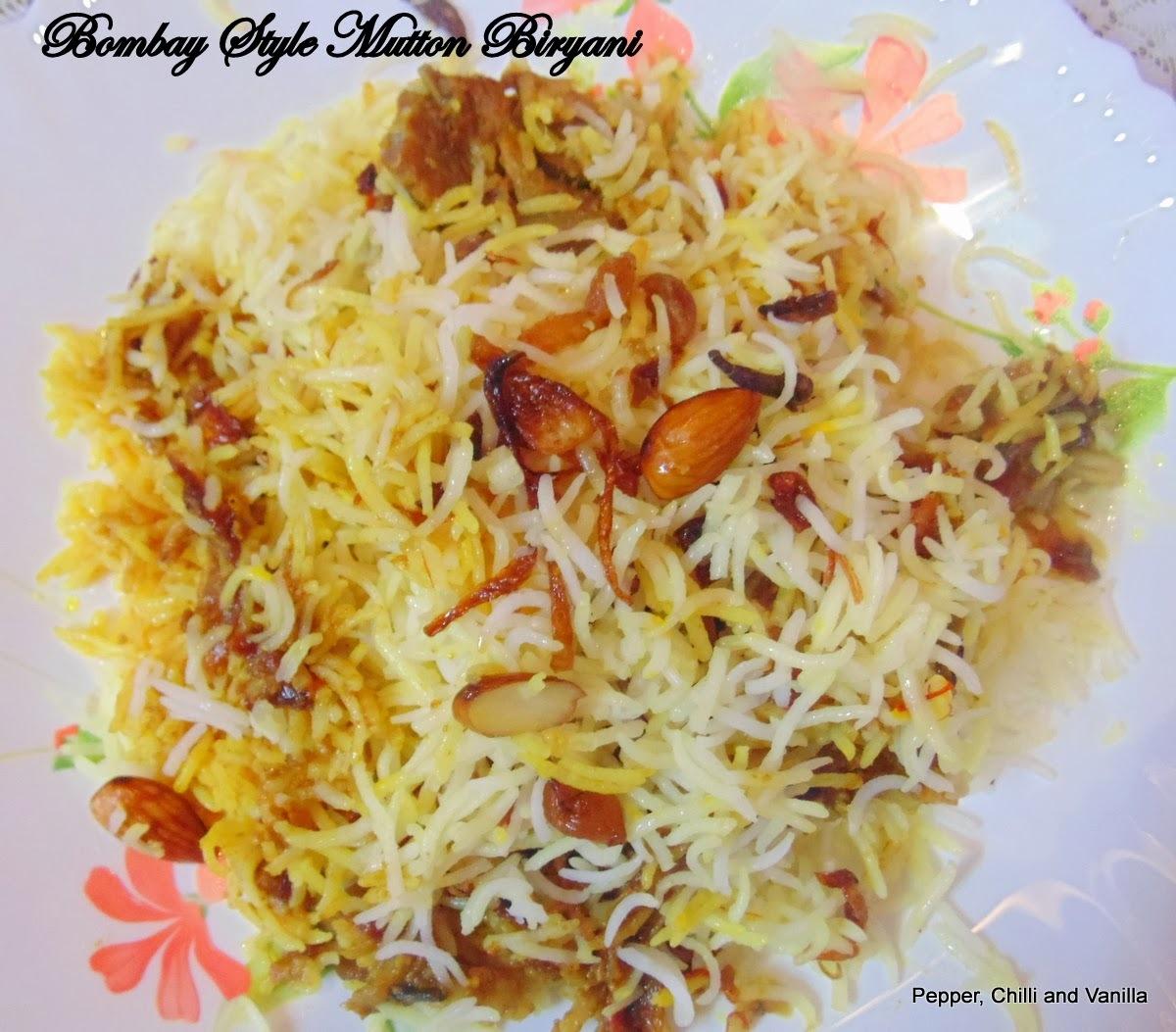 Bombay/Mumbai Style Mutton Biryani .