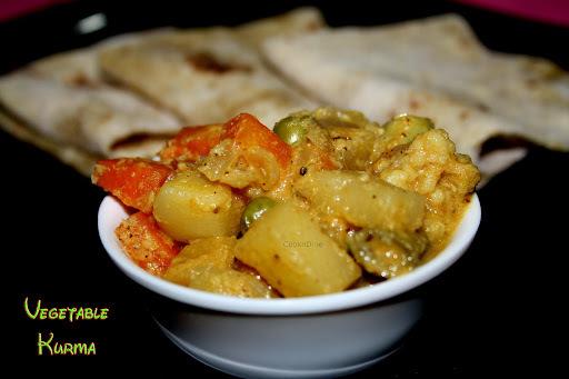 Vegetable Kurma-Saravana Bhavan Style..