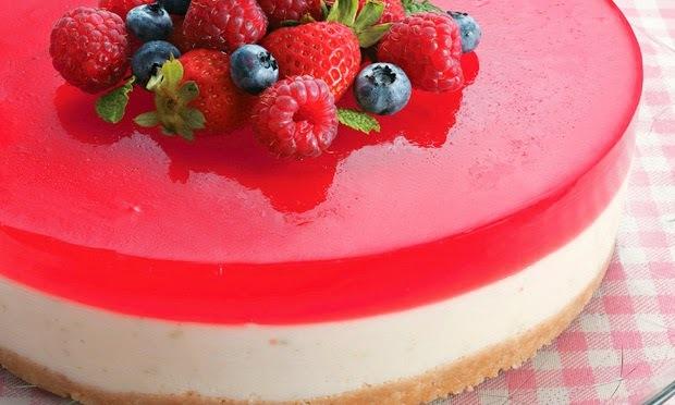 Cheesecake Light com Gelatina