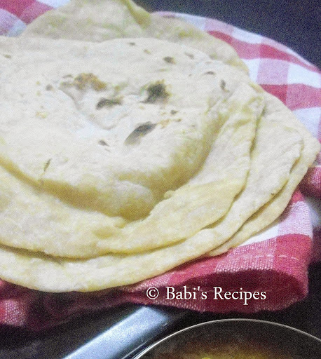 how to make maida roti