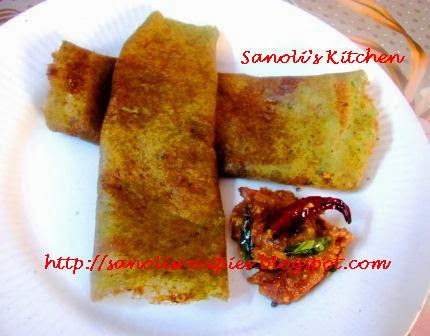 GREEN MOONG DAL DOSA
