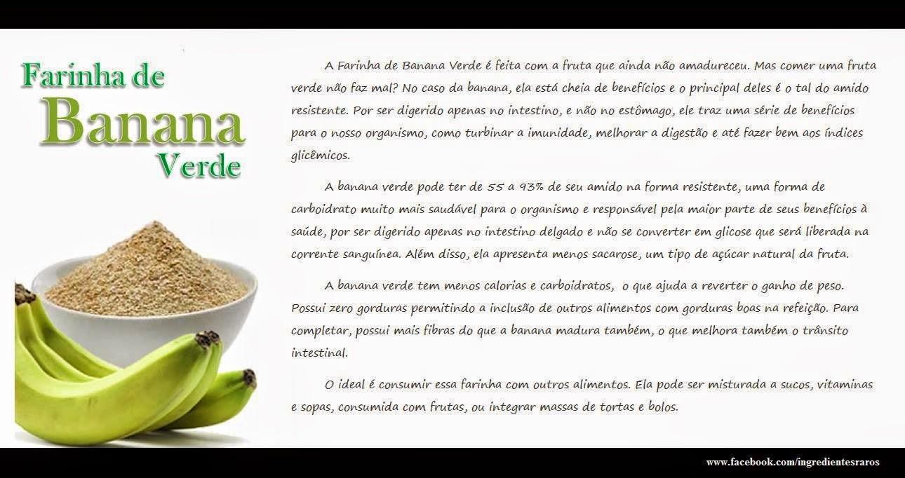 DICA FUNCIONAL: FARINHA DE BANANA VERDE