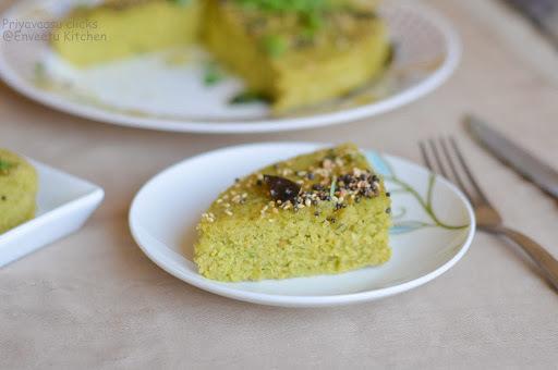 Green peas dhokla