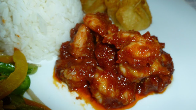Finger licking Prawn Sambal