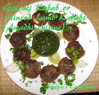 Galouti Kabab or Minced Lamb Kababs - Awadhi Cuisine