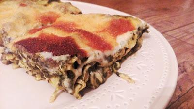 Špenátové lasagne s krůtím masem