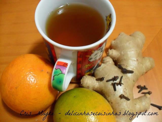 Chá de Gengibre e Laranja para Tosse