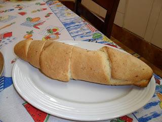 Pão caseiro.